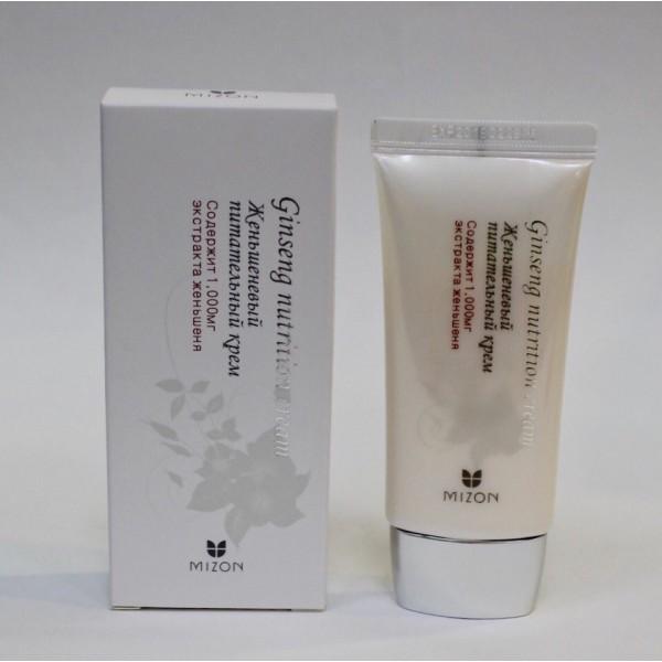 Mizon Ginseng Nutrition Cream Омолаживающий питательный крем с женьшенем