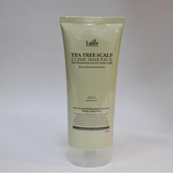 LADOR Teatree Scalp Clinic Hair Pack Оздоравливающая маска с чайным деревом для кожи головы