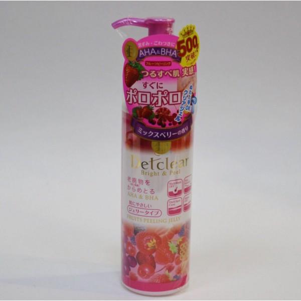 Meishoku AHA&BHA Очищающий пилинг-гель с AHA и BHA с эффектом сильного скатывания с ароматом ягод