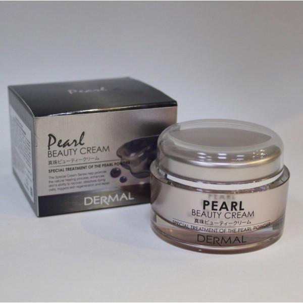 Крем с добавлением жемчужного порошка Dermal Pearl Beauty Cream