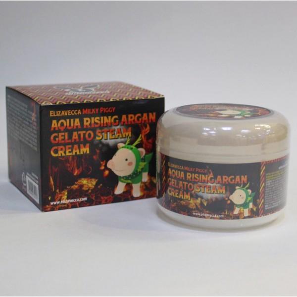 Elizavecca Milky Piggy Aqua Rising Argan Gelato Steam Cream Паровой увлажняющий крем