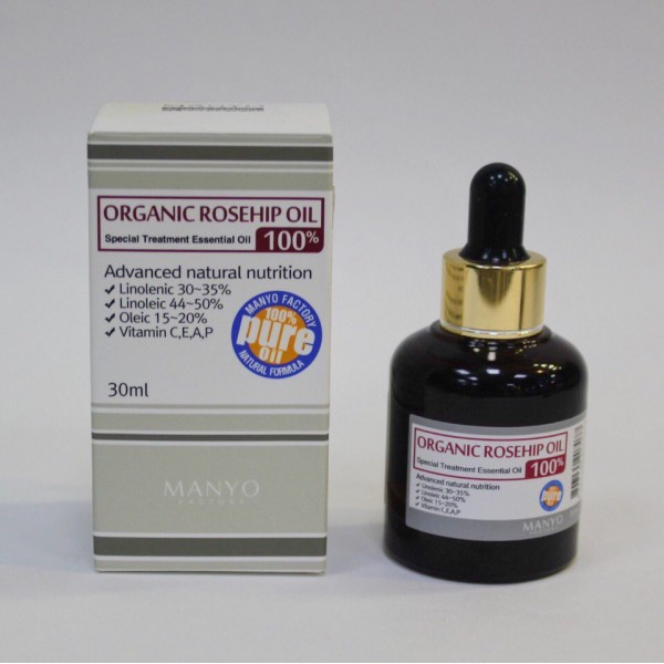 Manyo Factory NATURAL TREATMENT ROSEHIP WHITENING OIL - НАТУРАЛЬНОЕ ОСВЕТЛЯЮЩЕЕ МАСЛО ШИПОВНИКА