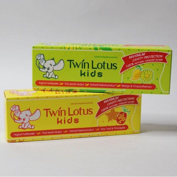 Twin Lotus Детская зубная паста со вкусом тропических фруктов