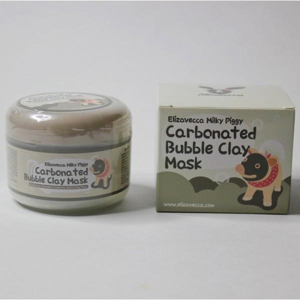 Глиняно-пузырьковая маска для лица Elizavecca Milky Piggy Carbonated Bubble Clay Mask