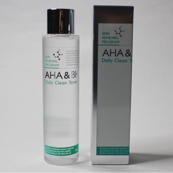 Пилинг-тонер с фруктовыми кислотами (AHA) и салициловой кислотой (ВНА) Mizon