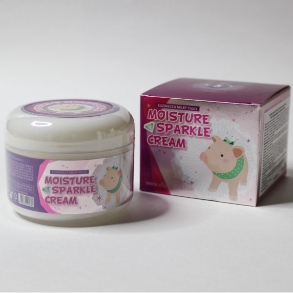 ELIZAVECCA Milky Piggy Moisture Sparkle Cream Увлажняющий крем для сияния кожи