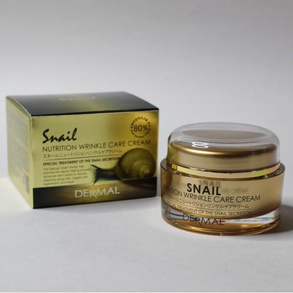 Улиточный крем Dermal Snail Nutrition Wrinkle Care Cream