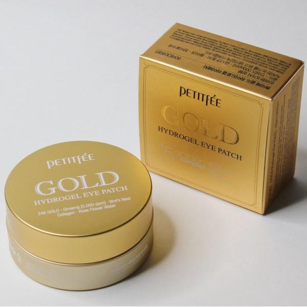 Petitfee Gold Hydrogel Eye Patch гидрогелевые патчи для кожи вокруг глаз с золотом